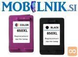 KARTUŠA HP 650XL CZ101AE črna, HP 650 XL CZ102AE barvna
