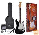 SX SE1SK-BK Električna kitara električne kitare komplet set