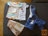 Oblačila za dojenčka in 9x tetra plenice