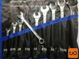 Set colskih viličasto-obročnih ključev