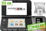 Nintendo 3DS XL srebrn + R4i SDHC v2014 + microSD 32GB + SD