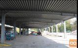 Kovinska konstrukcija s streho, dimenzij  12x46