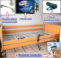 Električna negovalna postelja, s trapezom + komplet dodatkov