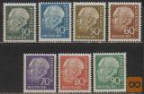 Nemčija 1956, Mi 259-265, MNH